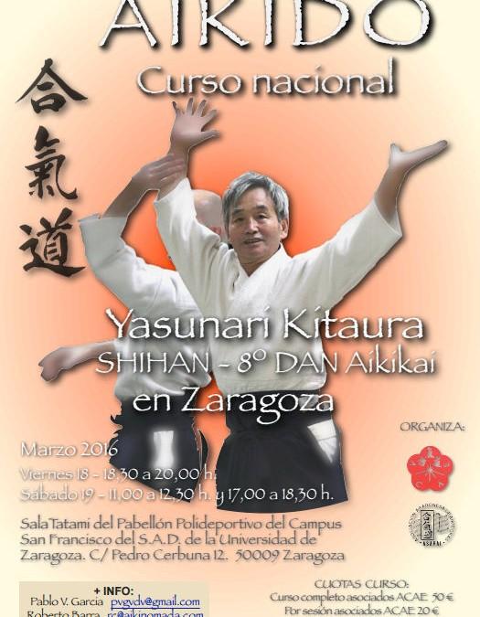 Curso de Aikido Zaragoza 2016, 18 y 19 de Marzo